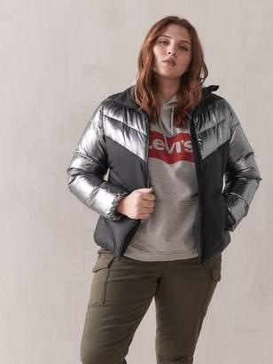 Color Block Puffer Jacket - Addition Elle