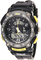 Everlast Mens Black Silicone Strap Analog/Digital Sport Watch