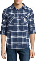 Superdry Plaid Flannel Button-Front Shirt, Atlantic Check