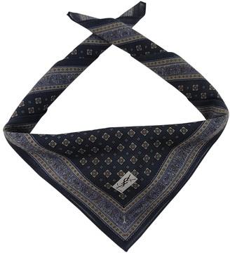 Saint Laurent Navy Cotton Scarves & pocket squares