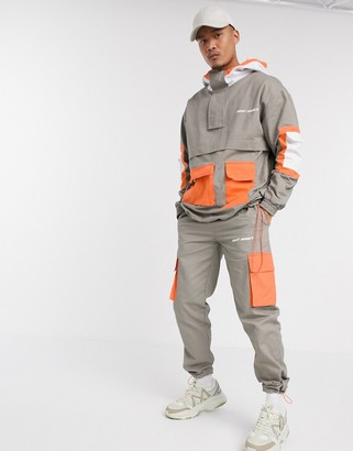 Night Addict pull over cargo tracksuit joggers