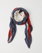 Abercrombie & Fitch Printed Square Scarf