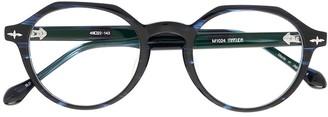 Matsuda Polished Round-Frame Glasses