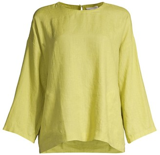 Eileen Fisher Roundneck Organic Linen Top