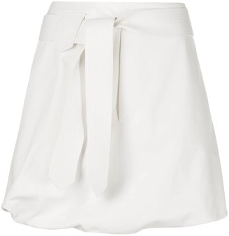 Salvatore Ferragamo Belted Puffball Mini Skirt