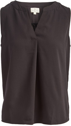 Très Jolie Women's Blouses Black - Black Pleated Sleeveless Top - Women