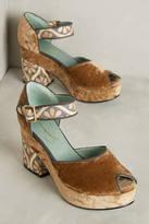 Paola D'Arcano Paola d'Arcano Velvet Platform Heels