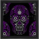 PTM Images Black & Purple Skull Framed Giclée Print