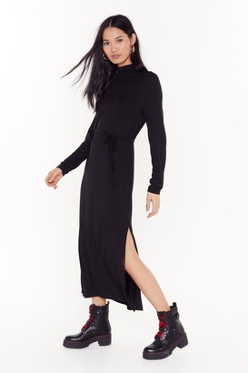 Nasty Gal Womens Tie and Stop Me Belted Midi Dress - Black - 4