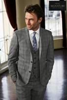 Mens Next Light Grey Check Slim Fit Suit: Trousers