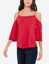 The Limited Strappy Cold Shoulder Shirt