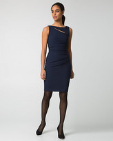 Le Château Double Weave Cutout Shift Dress