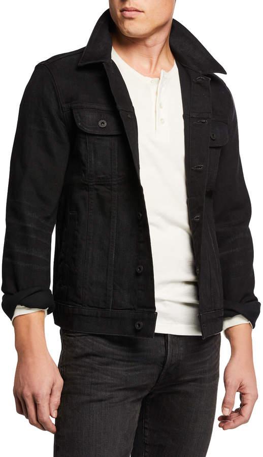Vince Men's Comfort-Stretch Trucker Denim Jacket