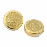 Torrini Fiorino - Fleur-de-Lis 18K Yellow Gold Button Covers