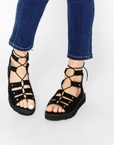 Park Lane Chunky Gladiator Suede Flat Sandals