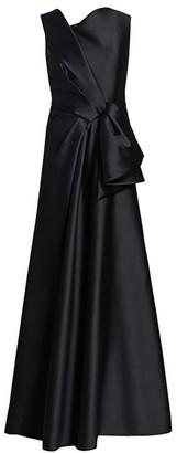 Alberta Ferretti Sleeveless Mikado Knotted Gown