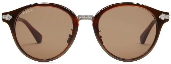 Gucci Round-frame acetate sunglasses
