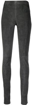 Joseph Suede Skinny Trousers