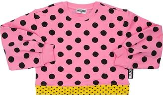 Moschino All Over Print Cotton Sweatshirt