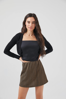Urban Outfitters Clara Knit A-Line Mini Skirt