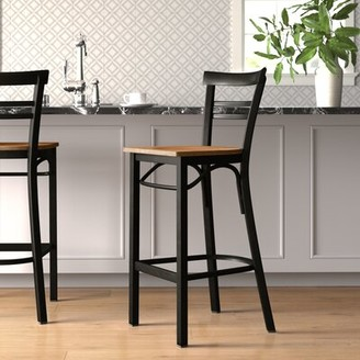 "Winston Porter Chafin 29"" Bar Stool Color: Natural, Pack Size: 1"