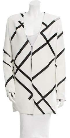 David Koma Mesh-Accented Cutout Jacket w/ Tags