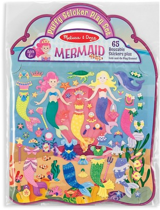 Melissa & Doug Puffy Mermaid Sticker Set