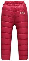 Meijunter Boys Girls Children Plus Velvet Thicking Down Pants Kids Warm Trousers