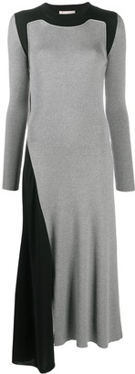 Alexander McQueen Colour-Block Ribbed-Knit Dress