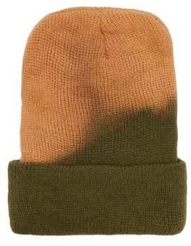 Albertus Swanepoel Bleached Wool Beanie Hat - Mens - Green Multi