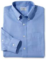 L.L. Bean Wrinkle-Free Pinpoint Oxford Shirt, Slightly Fitted Tattersall