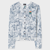 Paul Smith Women's White Cotton Cardigan With 'Cactus Sketch' Print