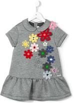 Simonetta flower appliqué dress