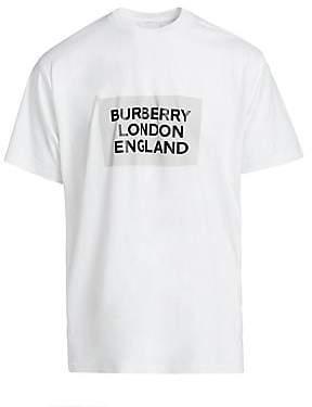 Burberry Men's London England Logo Cotton T-Shirt