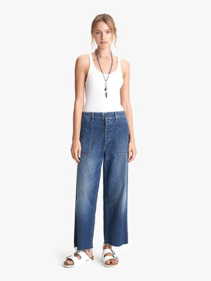 Mother The Patch Pocket Zip Private Ankle Fray - Tell It To The Pope