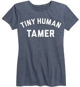 Instant Message Women's Women's Tee Shirts HEATHER - Heather Blue 'Tiny Human Tamer' Relaxed-Fit Tee - Women