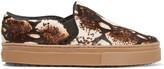 Schutz Printed calf hair slip-on sneakers