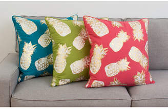 """Thro Feather Fill Saugus Pineapple Raised Foil Printed Pillow, 20"""" x 20"""""""