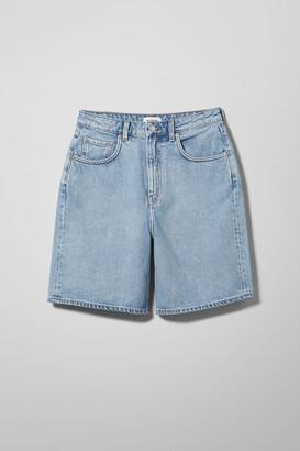 Weekday Dandy Denim Shorts - Grey