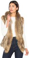 Heartloom Lara Rabbit & Asiatic Raccoon Fur Vest