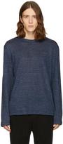 Alexander Wang Blue Linen Striped T-Shirt