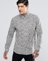 Pretty Green Shirt In Regular Fit With All Over Floral Print