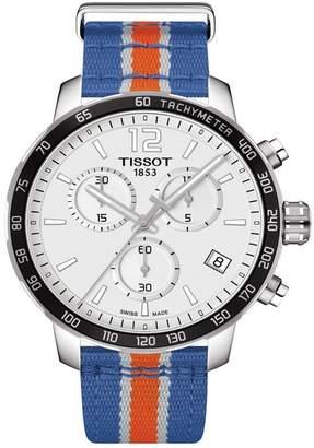 Tissot Men's Quikster NBA Chronograph NATO Strap Watch, 42mm