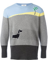 Thom Browne dog intarsia jumper - men - Cashmere - 1