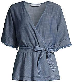 Trina Turk Women's Modernism Milo Chambray Belted Kimono Top