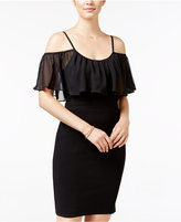 As U Wish Juniors' Off-The-Shoulder Ruffled Bodycon Dress