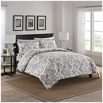 Marble Hill 16752BEDDQUEGRY 3 Piece Tanner Reversible Comforter Set
