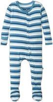 Kickee Pants Print Footie - Salty Sea Stripe - Newborn