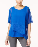 JM Collection Embellished Chiffon Blouse, Created for Macy's