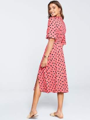 Very Button Kimono Dress - Spot